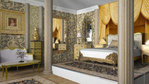 gold luxury2  - Classic - Bedroom - by auntiehelen