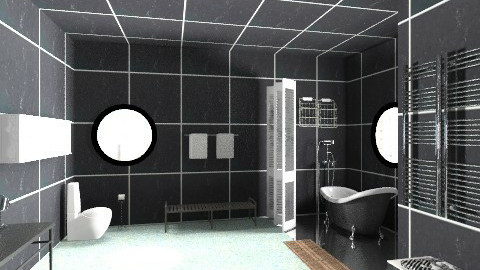 black and white bath - Eclectic - Bathroom - by whateffer