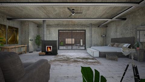 Industrial Bed - Bedroom - by KimAlys