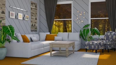 Orange Carpet - Modern - Living room - by millerfam
