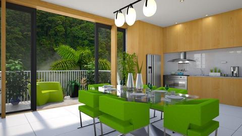Green dinner - by Aymee Estrella