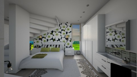 I With M_Unikko B_G - Modern - Bedroom - by janip