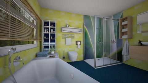 Yellow_Blue - Eclectic - Bathroom - by Theadora
