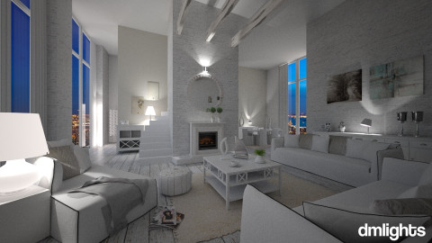 total white - Living room - by sentest