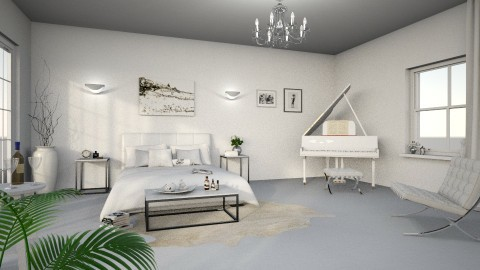 White Master Bedroom - by TaeBlossom