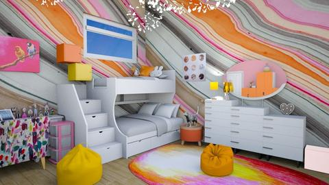 twin girls - Eclectic - Kids room - by annator