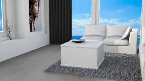gray floor - Living room - by ekaterine