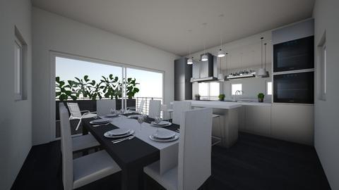 cucina nera con terrazzo - Modern - Kitchen - by mati07