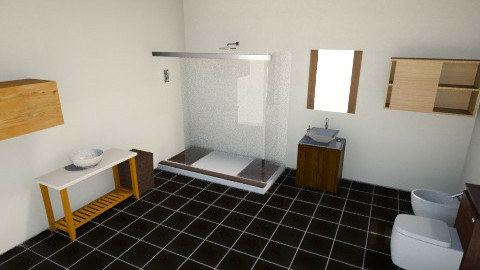 scenographic proyect - Minimal - Bathroom - by TheDrums