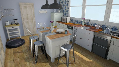 blue modern - Modern - Kitchen - by Melza