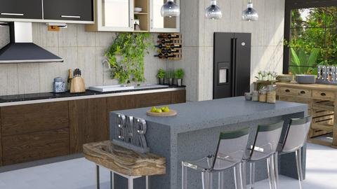 Jungle Jumble - Modern - Kitchen - by Gurns