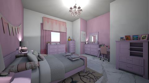 pink and white bd and off - Modern - Bedroom - by jade1111