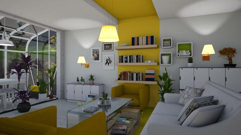 Yellow seating - Living room - by The quiet designer
