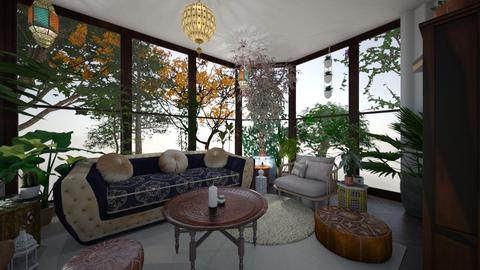 Greenhouse Getaway - Living room - by vanessaell