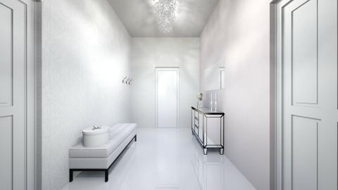 white apartment_hall - by annsal