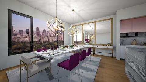 NY - Dining room - by flacazarataca_1