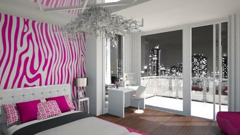 girl room - Feminine - Bedroom - by viktoraa