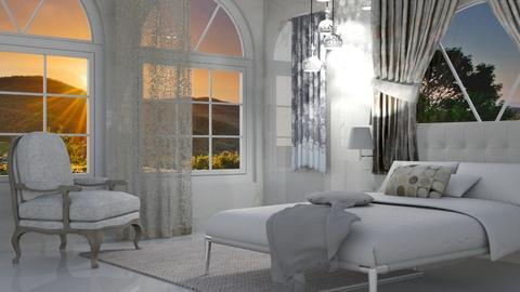 Winning White - Glamour - Bedroom - by Jessica Fox