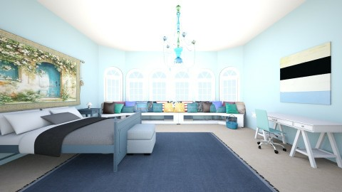 blue bedroom - Bathroom - by eaziz