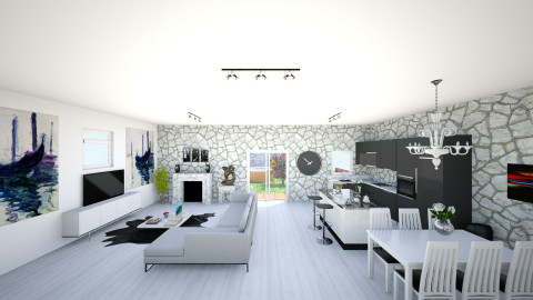open plan 3 - Modern - Living room - by bec21