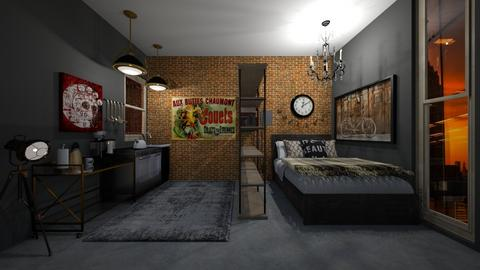 Brooklyn Studio - Bedroom - by Izabel_M