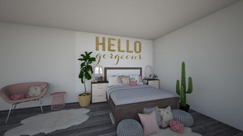 hello gorgeous - Glamour - Bedroom - by SelahH11