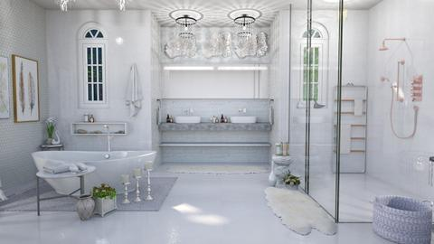 elegant swan bathroom - Bathroom - by Moonpearl