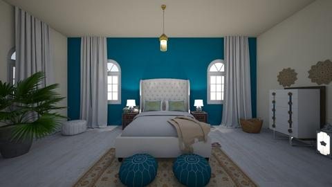 Moroccan - Bedroom - by Hilda Ni