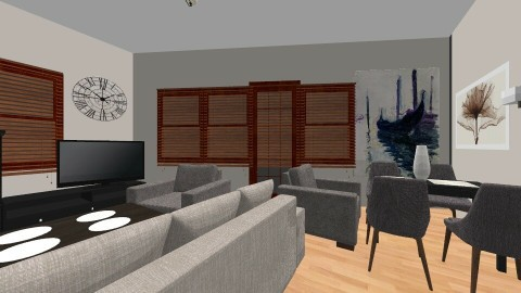 salon 2 - Living room - by martaziolek