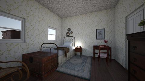bedrom - Vintage - Bedroom - by PeculiarLeah