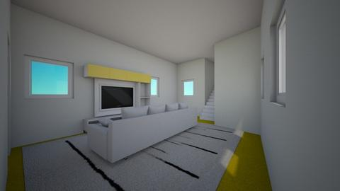 Yellow And  White - Living room - by Itsjustme1