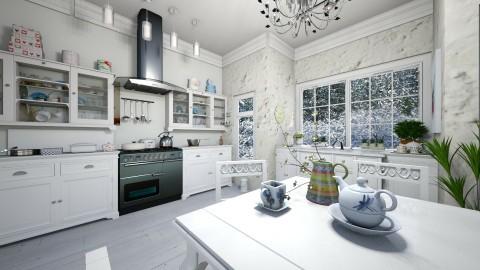 White kitchen2_R - by milyca8