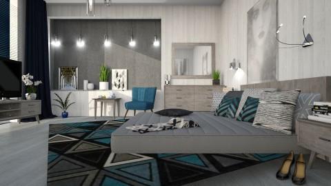 M_Bed on the floor - Bedroom - by milyca8