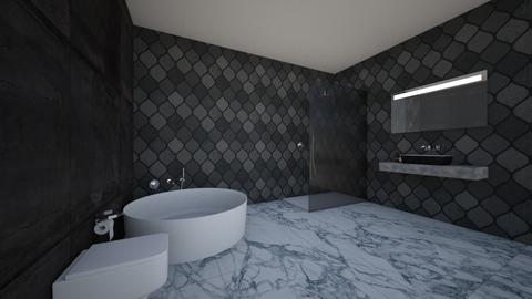 dark bathroom - Classic - Bathroom - by BLOBy2