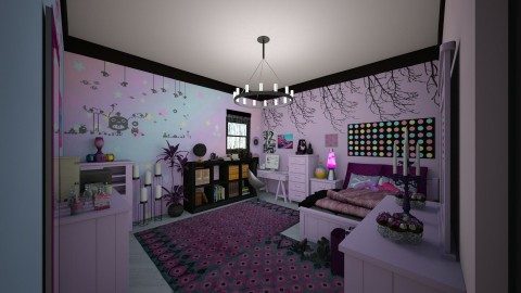 Pastel Goth Teen Bedroom - by mmt_regina_nox