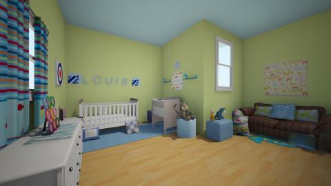 Louis Blue Nursery - Modern - Kids room - by devonsia