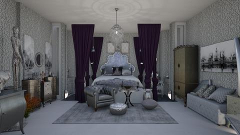 silver bedroom - Modern - Bedroom - by nat mi