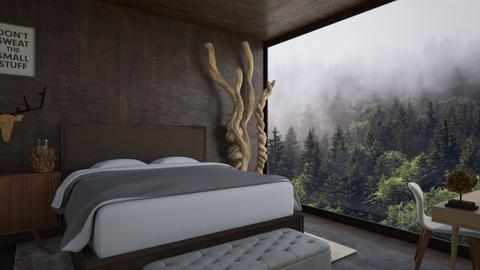 Mountain Bedroom - Bedroom - by CatsFurLife