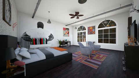 Cool Boys Room - Masculine - Bedroom - by Sarahjeanxo