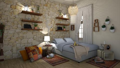 Stone Room - Bedroom - by zenaalomran