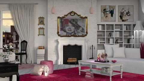Pretty in Pink - Feminine - Living room - by Roquette