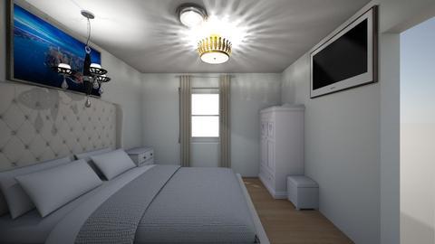 mstr bd beige curt - Bedroom - by Vivianrog