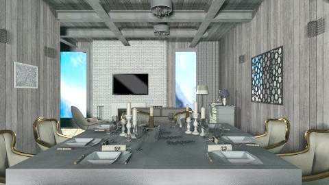 grey2 - Classic - Living room - by tita