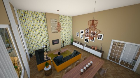 Warm vintage - Retro - Living room - by Pietergn