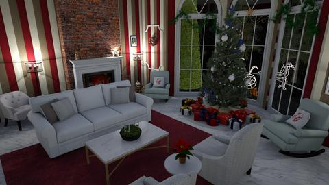 Living Spaces Christmas - Living room - by TheDutchDesigner