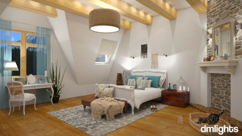 Farmhouse - Bedroom - by DMLights-user-997247
