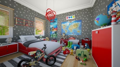 Ready to Roll - Eclectic - Kids room - by Theadora