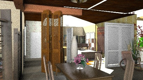 Dining room1 - Country - Dining room - by Tropicaholic
