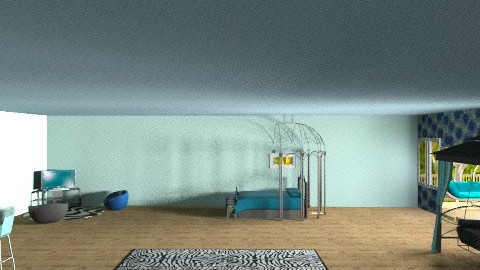 Blue room  - Modern - Bedroom - by batha2001