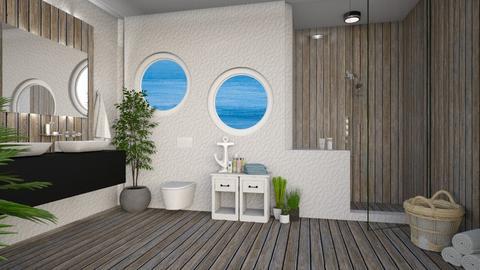 nautical bath - Bathroom - by anjaam